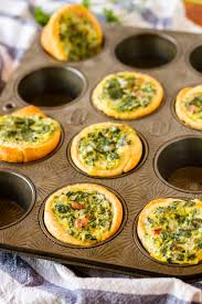 Spinach and Bacon Tarts