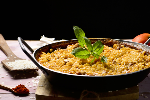Spicy Chicken Couscous Paella