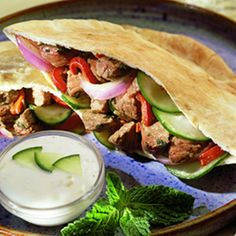 Lamb and feta Pita Pockets