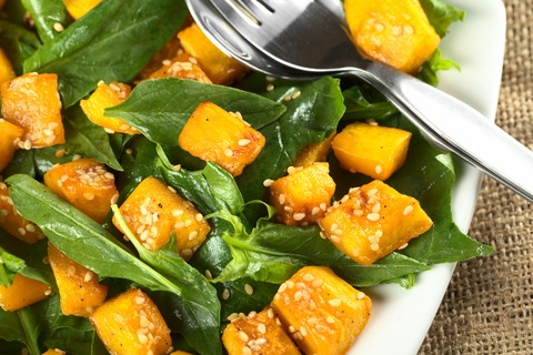 Roasted Pumpkin & Haloumi Salad
