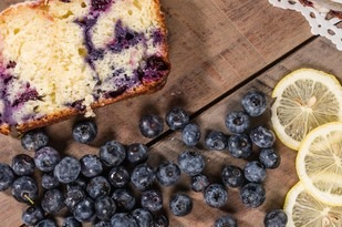 Lemon Coconut and Blueberry Cake